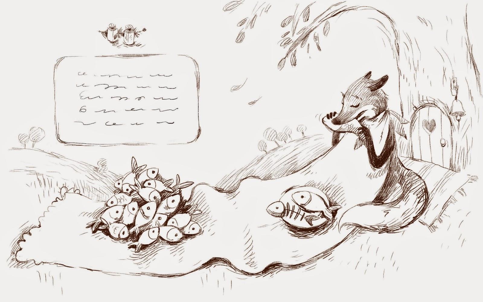 sketch_fox_dinner