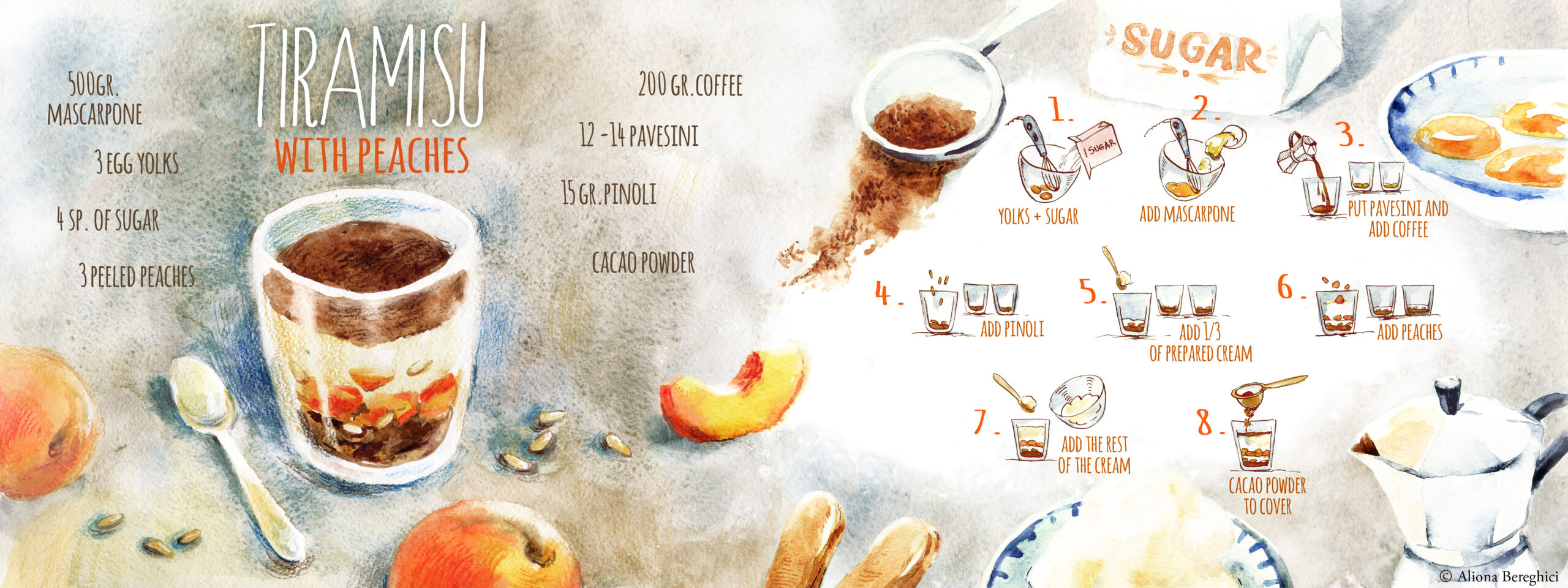 Peach Tiramisu